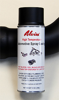 Alvin Products High Temperature Spray Paint for Automotive Applications